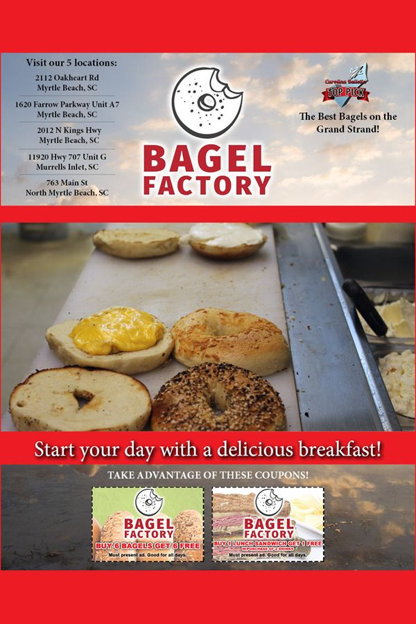 Myrtle Beach Resturants Open On Christmas Eve 2020 ☀️Start your day with a delicious breakfast and the best bagels