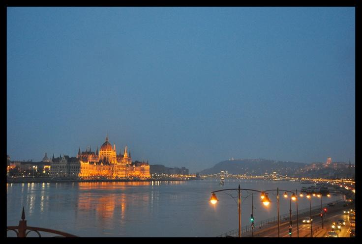 Night View Of Budapest (Parliament).  Photo by Krzysztof Borkowski