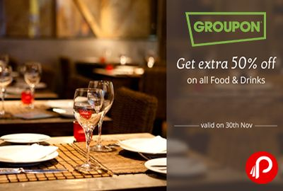 Nearbuy offers Extra 50% off on All Food & Drinks Deals. Valid for 1 Voucher Only. Coupon Code – FOOD50  http://www.paisebachaoindia.com/get-extra-50-off-on-all-food-drinks-deals-nearbuy/
