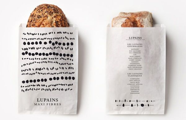 Lupains Bread Branding Lightheartedly Celebrates the Cereal Ingredients #paper #packaging trendhunter.com