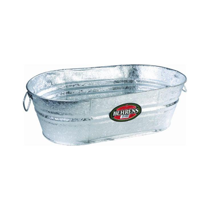 Amazon.com : Behrens 3 OV 16 Gallon Oval Steel Tub : Tub. Galvanized ...