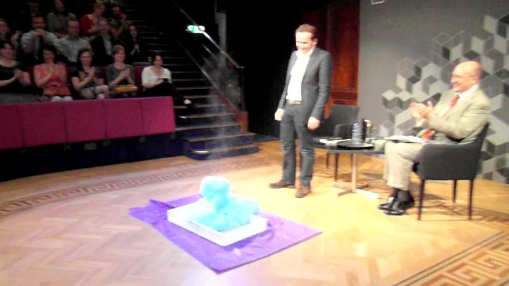 Ever the scientist! Ben making 'Elephant's Toothpaste' (mixing hydrogen peroxide with potassium iodide) at the launch of his book 'Its Not Rocket Science' last year at The Royal Institute in London July