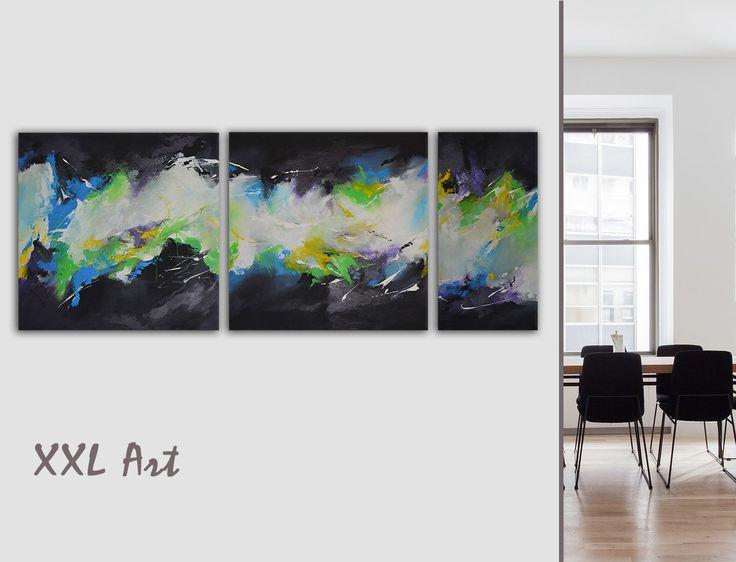 Charming Acrylbilder Auf Leinwand, Triptychon, Abstrakte, Moderne Kunst. Titel:  Ideas