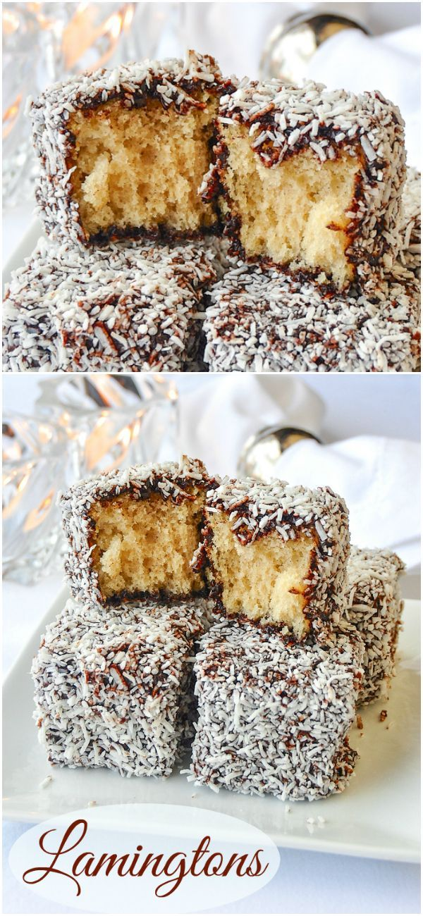 Lamingtons! a.k.a. Chocolate Coconut Cake Squares #RockRecipes100Cookies4Christmas Okay, they may technically be cake squares but they still freeze well and make great additions to Holiday cookie trays!