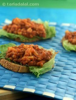 Beans and Cheese On Toast ( Sandwich Cookbook) recipe | Sandwich Recipes | by Tarla Dalal | Tarladalal.com | #5240