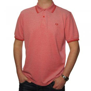 Fred Perry Twin Tipped Men's Polo Shirt in Red Oxford