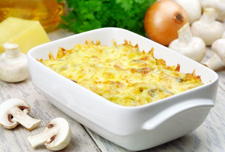 Escondidinho de batata-salsa com cogumelos