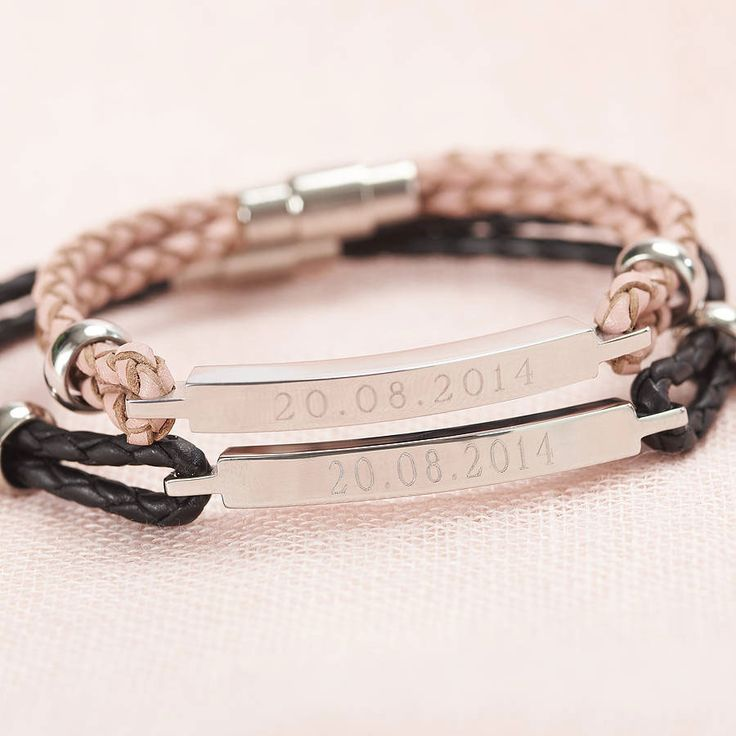 leather bracelet leather gift ideas for your third wedding anniversary