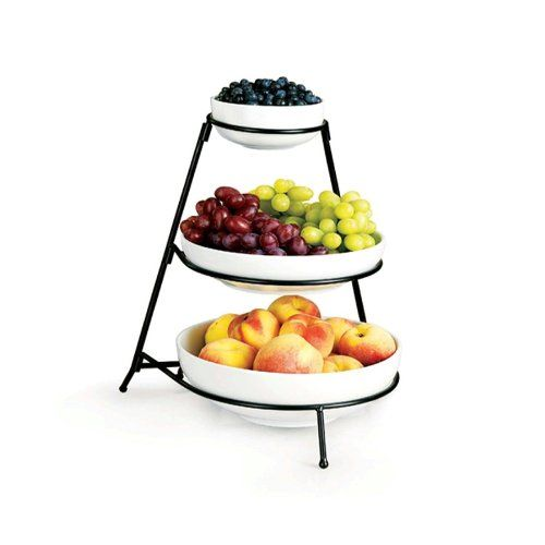 17 best images about tiered fruit stand on pinterest scroll design double hammock and fruit bowls - Tiered fruit bowl ...