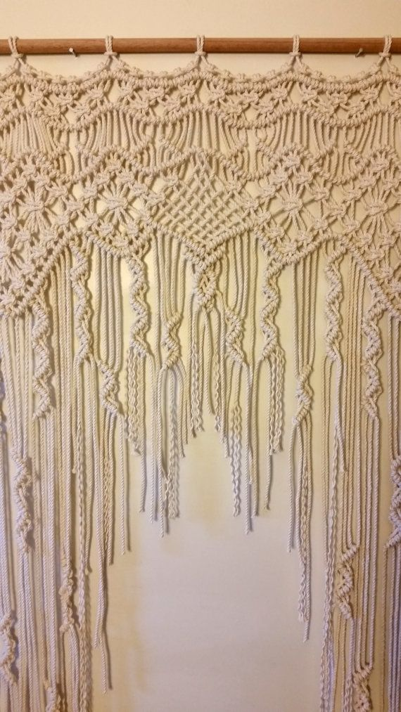 SALE /// Macrame Curtain / Macrame Wedding by WallHuggerHandmade