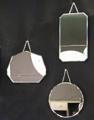 Style rétro pour ces miroirs biseautés sans cadre, à collectionner.  Miroirs rétro, Kasaya 37,50 €  www.kasaya.fr