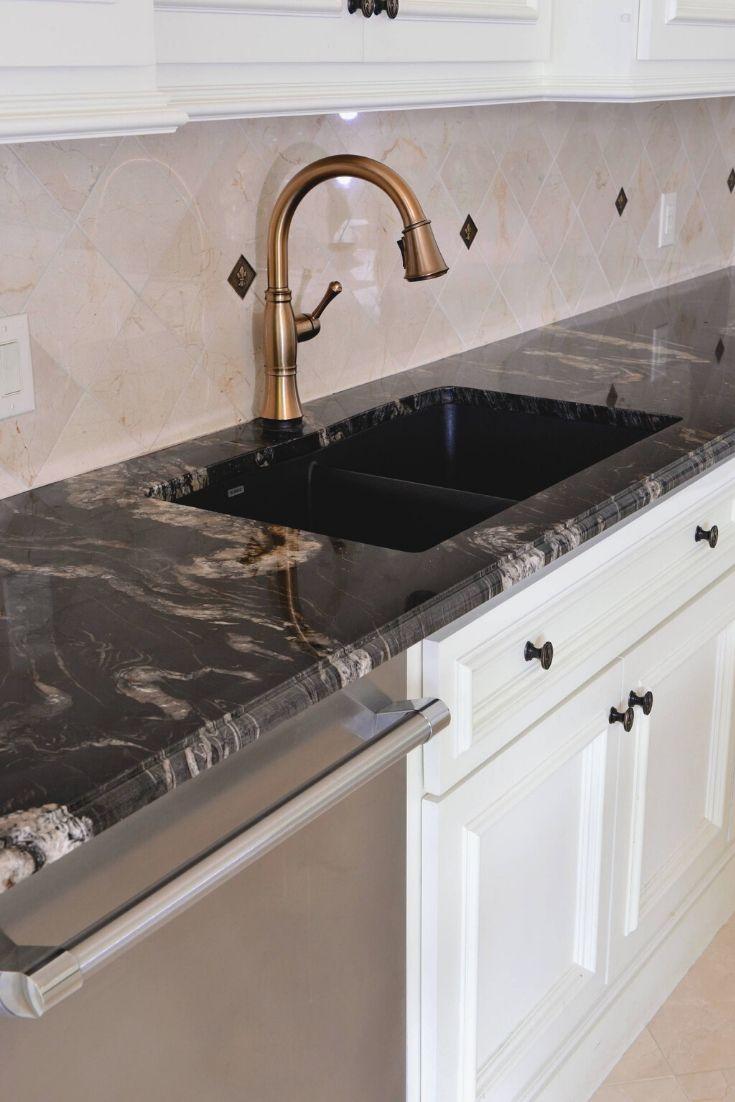Titanium Granite Countertops Kitchen Countertops Va In 2020 Black Granite Countertops Gold Granite Countertops Granite Bathroom Countertops