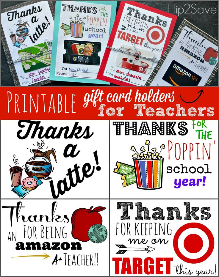956 best teachers gifts and end of year images on free printable gift card holders for teacher gifts negle Images
