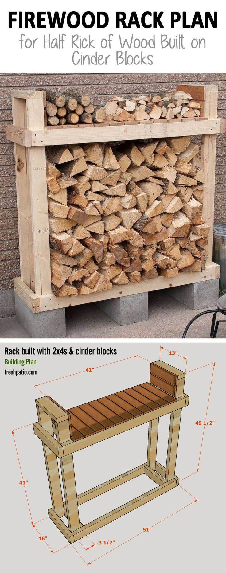 15 Easy DIY Outdoor Firewood Rack Ideas to Keep Your Wood Dry