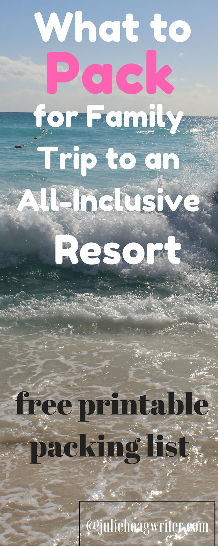 Travel Hack, use a free packing list. What to Pack for a Family trip to an all inclusive resort in Mexico. Free packing list printable. family packing for vacation | family packing list | packing for travel | packing tips for vacation | family travel tips #familytraveldestinations #freepackinglist #familypackingtips family travel tips | packing list for vacation | packing list for travel | all inclusive resorts for families | all inclusive resort | all inclusive vacations #familygetaway