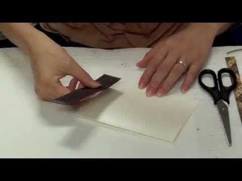 結婚式招待状作り方 フラワーホワイト by 綴る - YouTube