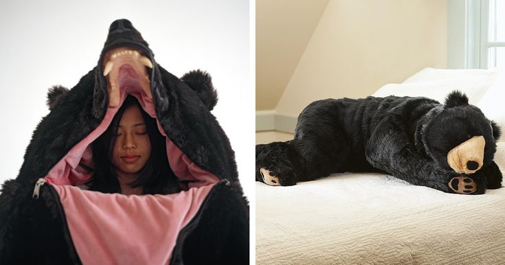 Japanese artist Eiko Ishizawa has created an awesome bear sleeping bag that will let you become the bear you always knew you were deep inside. She was inspired by Bruno the problem bear who wandered from the Italian Alps into Bavaria before being put down by officials who feared that he might present a danger to locals.