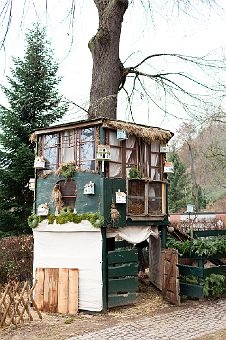 : Treehouse Fairydoor, At Home, Trees Houses, Chicken Coops, Minis Hors, Chicken Houses, Gardens Sheds, Kid, Animal