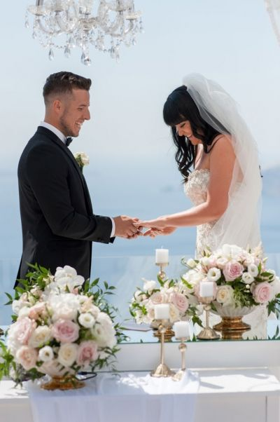 When Romance Happens In Greece It Never Stays In Greece! By Phosart Photography & Cinematography. See more http://photographergreece.com/el/photography/wedding-stories/878-stunning-and-romantic-wedding-at-le-ciel,-santorini