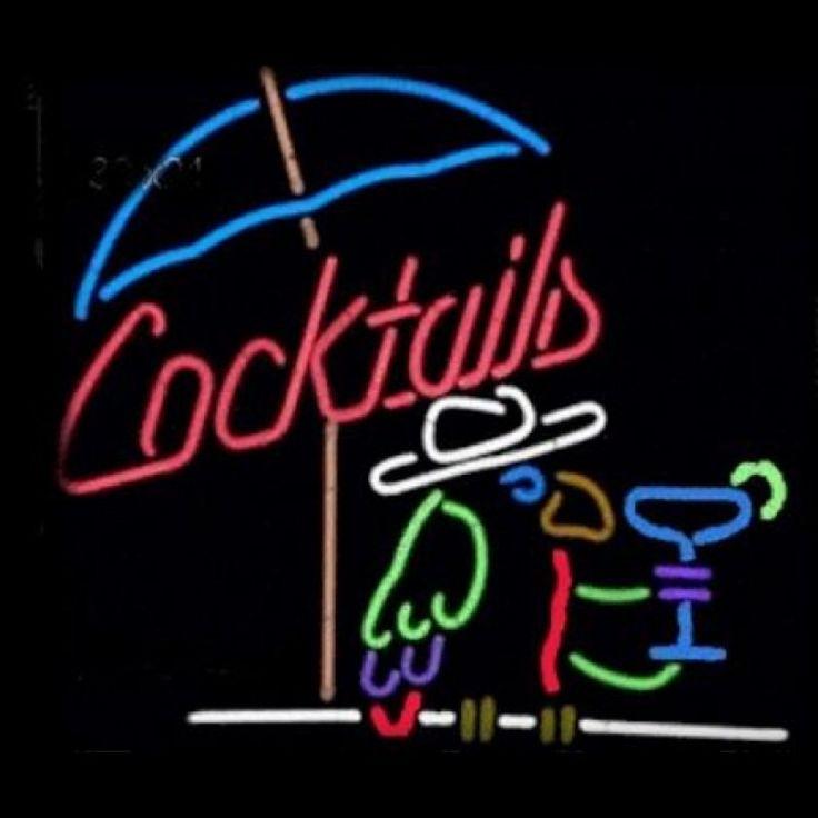 Neon Bar Sign - Cocktail Parrot