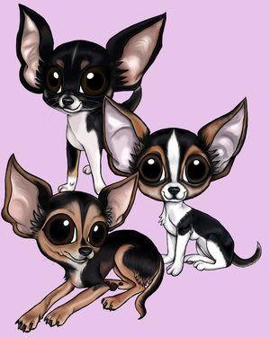 Cute Cartoon Chihuahuas image by joejonaslover1_02 - Photobucket