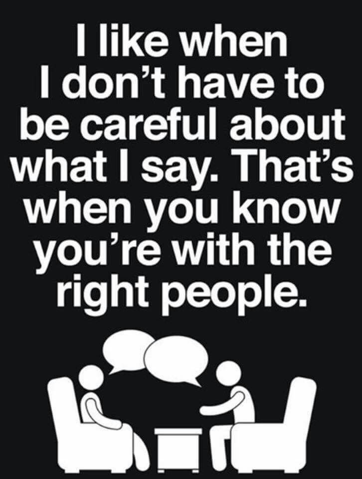 with the right people