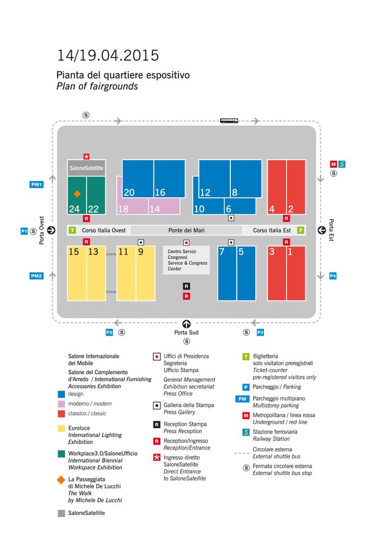 Isaloni > INFO > Exhibition plan