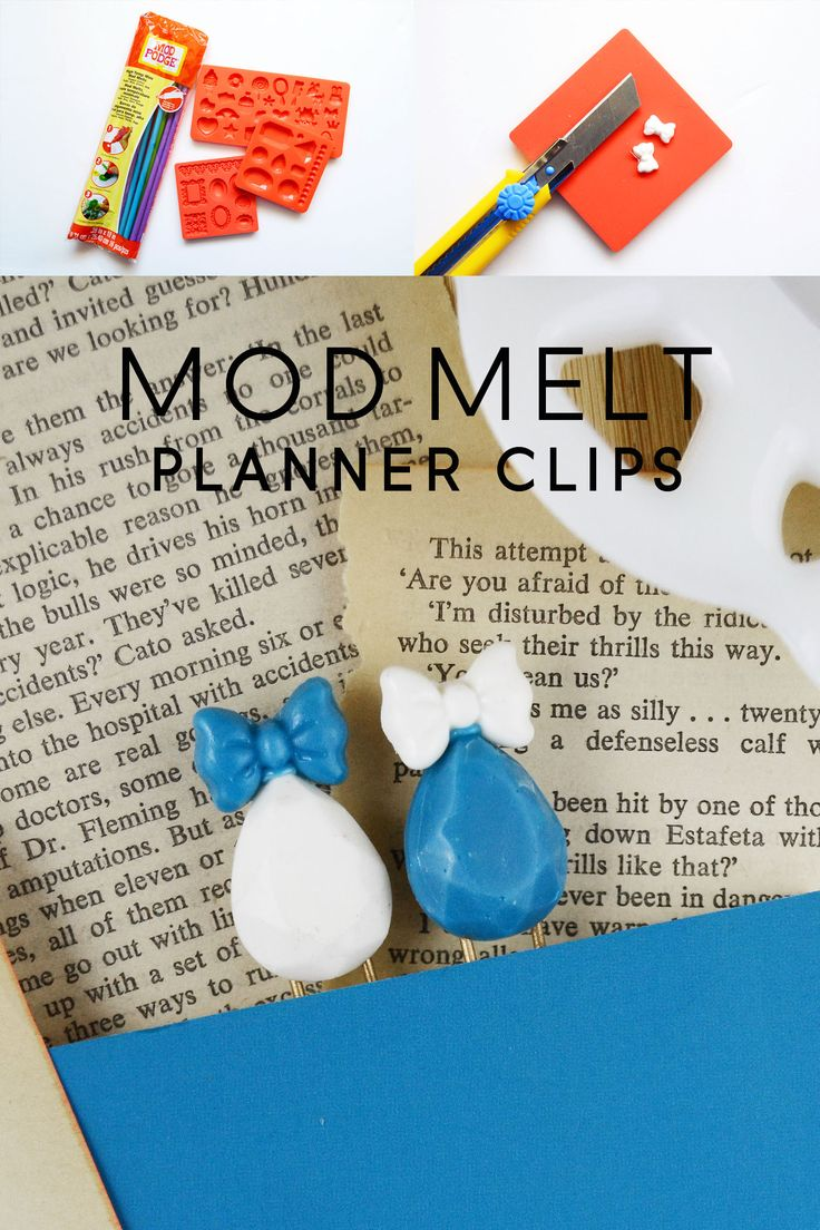 """Are you a self-proclaimed """"planner geek?"""" Make your own planner organizing clips using Mod Melts and Molds. These are so cute!"""
