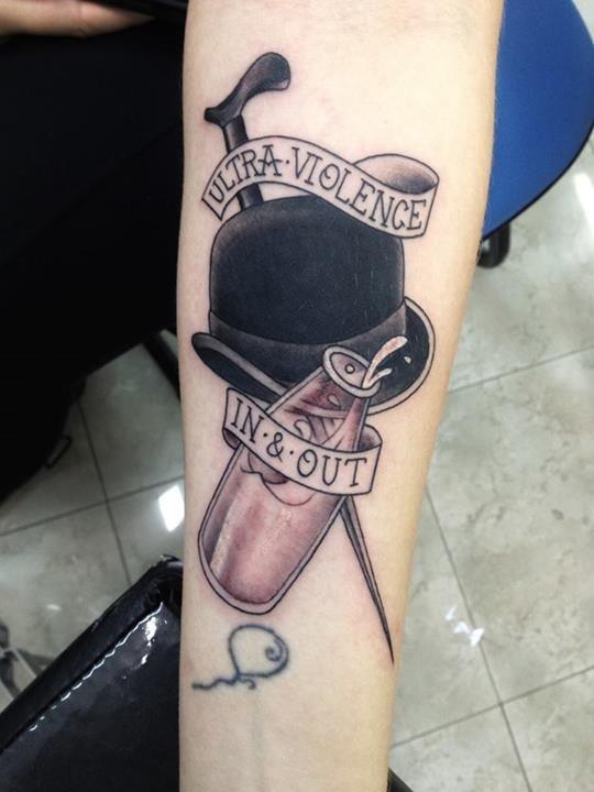 Clockwork Orange, from Led's Tattoo, artist Alex