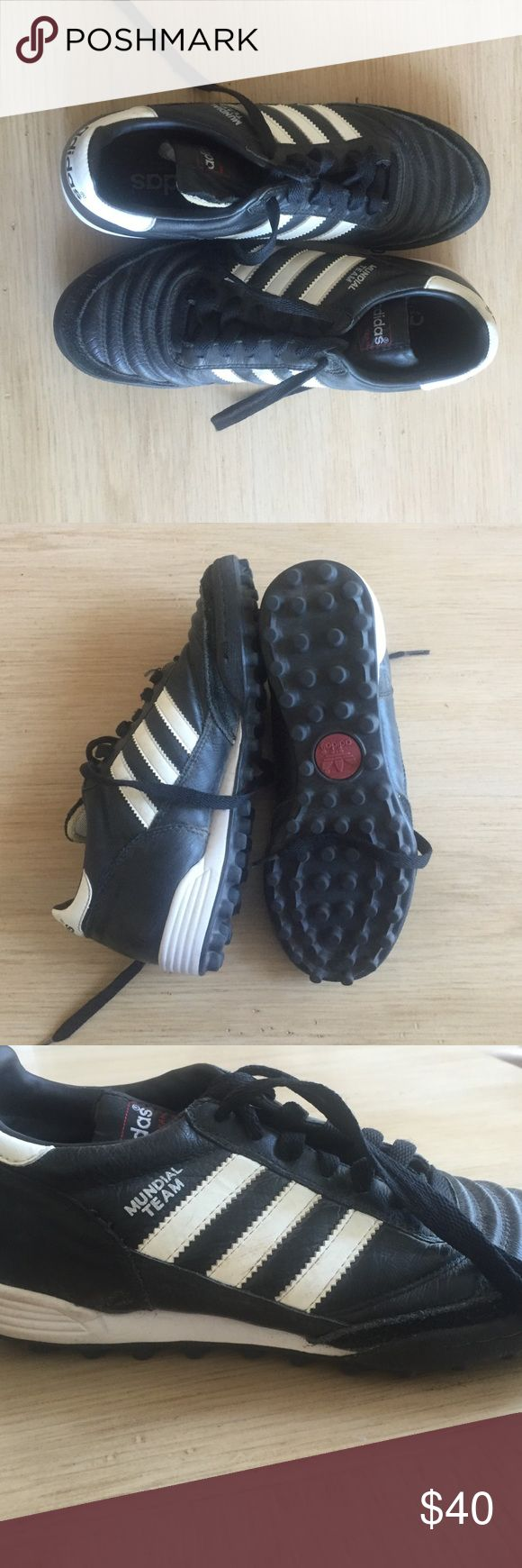 Adidas mundial team turf shoes Leather adidas turf shoes (size is a men's size but shoe is unisex) adidas Shoes Athletic Shoes