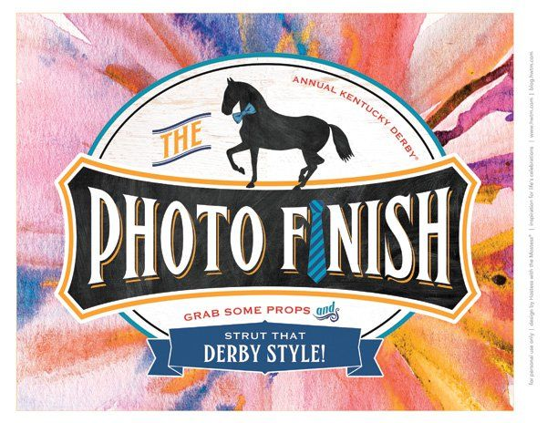 FREE Kentucky Derby® Party Printables – Garden Party {Updated for 2016}