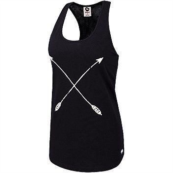 Rebel Sport - Running Bare Womens Jamie Boyfriend Tank