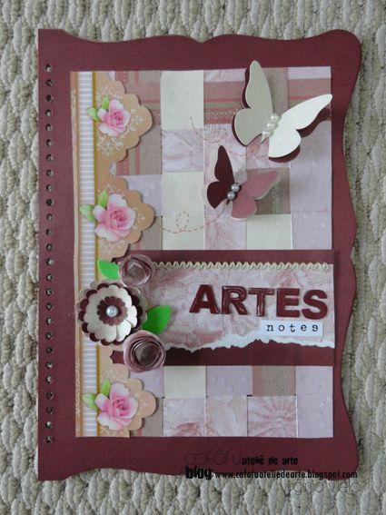 Capa de caderno !!! PARTE 1 www.cafofuateliedearte.blogspot.com mvmiri@terra.com.br