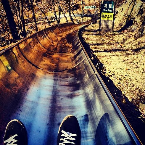The toboggan down from the Great Wall of China | The 17 Most Stunning Places In The World To Take A Selfie