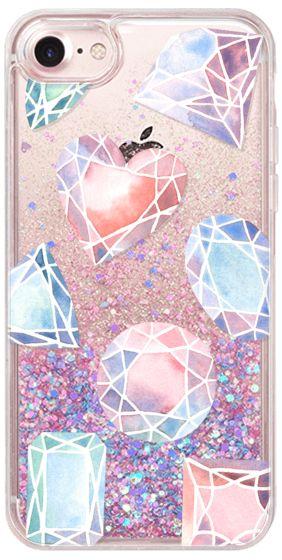 Casetify iPhone 7 Glitter Case - Jewels by Four Wet Feet Studio #Casetify