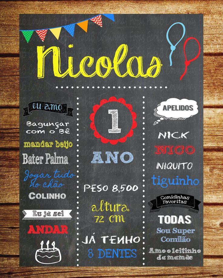 fabi_b: Chalkboard Aniversário / Quadro negro aniversário