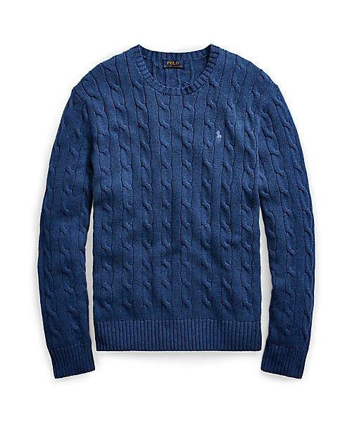 POLO RALPH LAUREN(ポロラルフローレン)の「ケーブルニット コットン セーター(ニット/セーター)」 ブルー系9