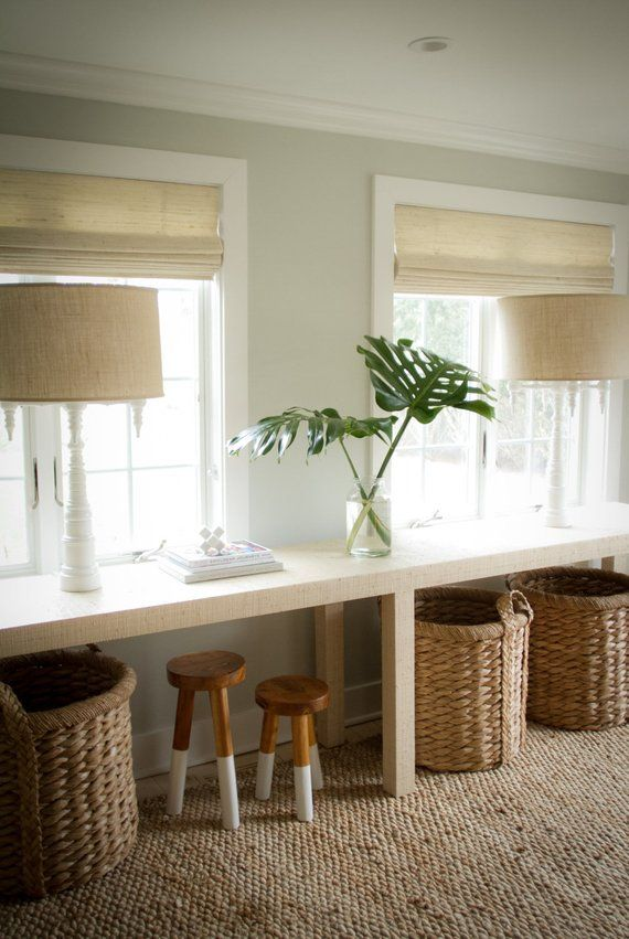 Grasscloth Console Table Custom Built Design Your Own Table