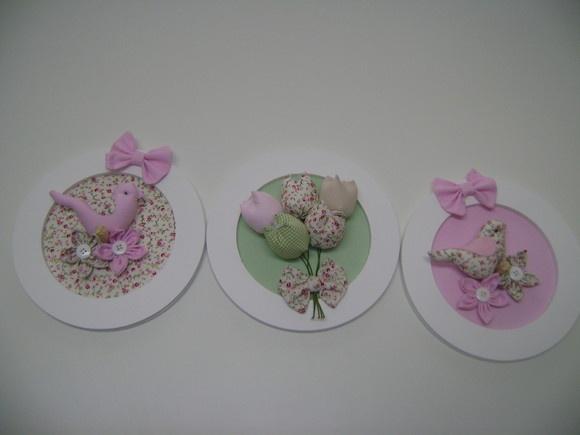 kit trio quadrinho passarinho