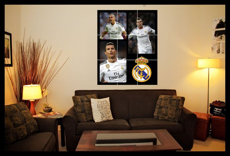Real #madrid #football team wall art poster #(ronaldo, bale & pepe,  View more on the LINK: 	http://www.zeppy.io/product/gb/2/192037492181/