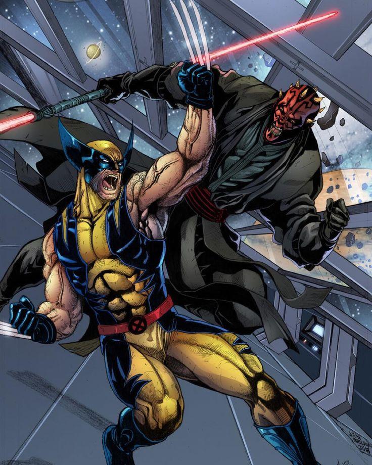 Darth Maul vs. Wolverine! Artwork by Jey Soliva. #37thRealm