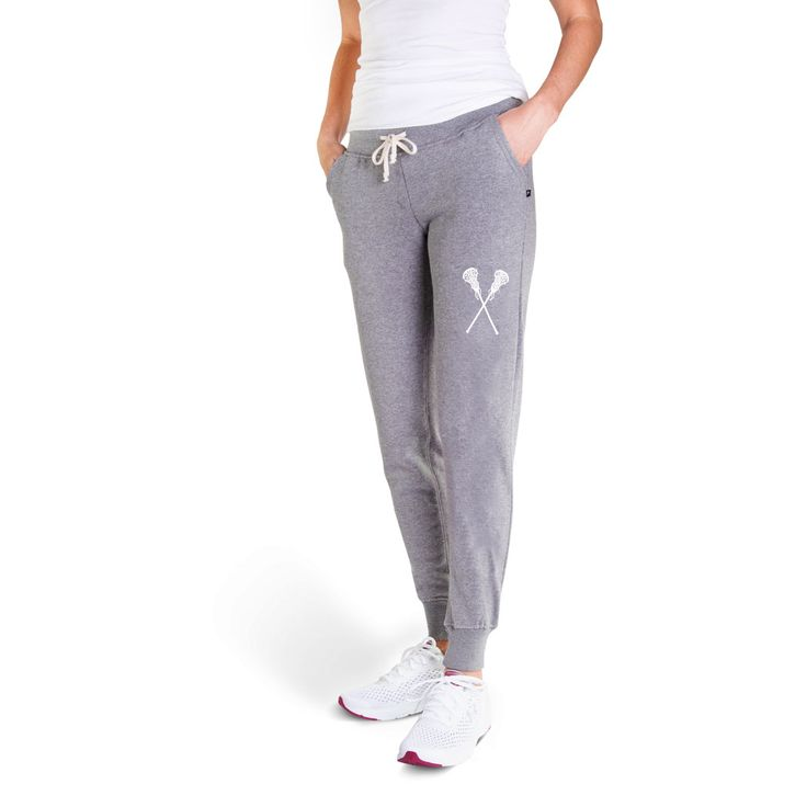 Girls Lacrosse Joggers – Crossed Sticks  – Products