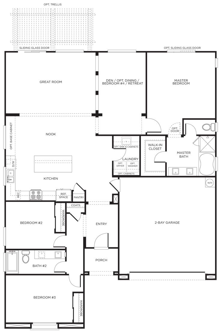 241 best floor plan images on pinterest house floor plans floor ranch style floor plan has a great flow and addresses areas discussed in the chapter i entry kitchen l saped great flow through out the house