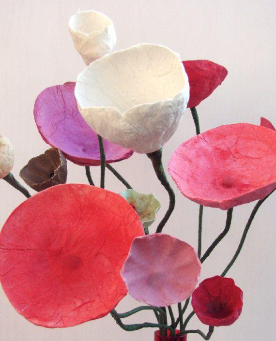 Paper Flower Arrangement Flowers Composition Home Decoration