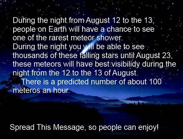 ALERT TO OUR GROUP: Be sure to share this opportunity!!!!Spaces, Shoots Stars, Awesome, The Universe, Auguste 2013, Meteor Shower, My Birthday, Fall Stars, Fields Trips