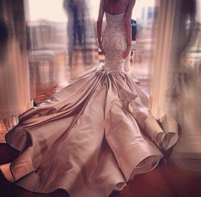 Gorgeous gown... I wish I knew who the designer was