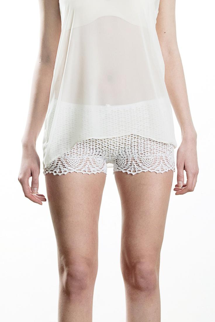 custom crochet shorts, spring / summer 2013