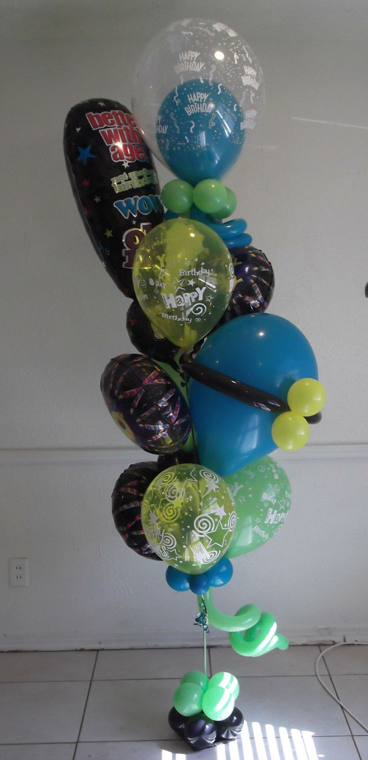 Happy 40th Birthday Balloon Delivery Bouquet Arrangement