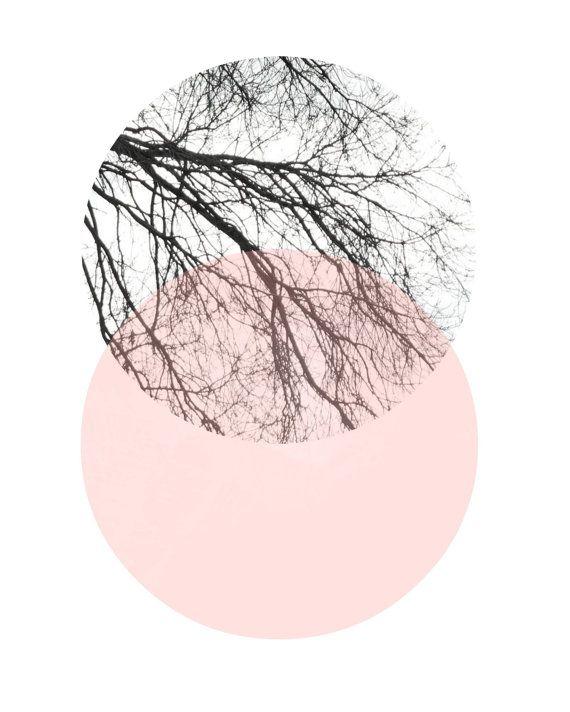 Scandinavian Art, Abstract Art Print, Art Print, Circle Print, Pink And Grey Decor, Giclee print, Wall Art, Poster, Wall Decor – luca k