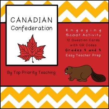 Grade 4/5 students will enjoy this engaging QR code activity when they are reviewing Canada's Confederation.   {Paid Product}
